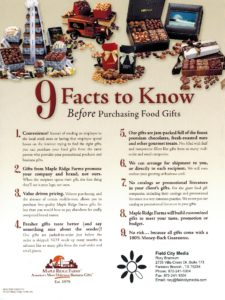 9 Facts to Know Before Purchasing Food Gifts